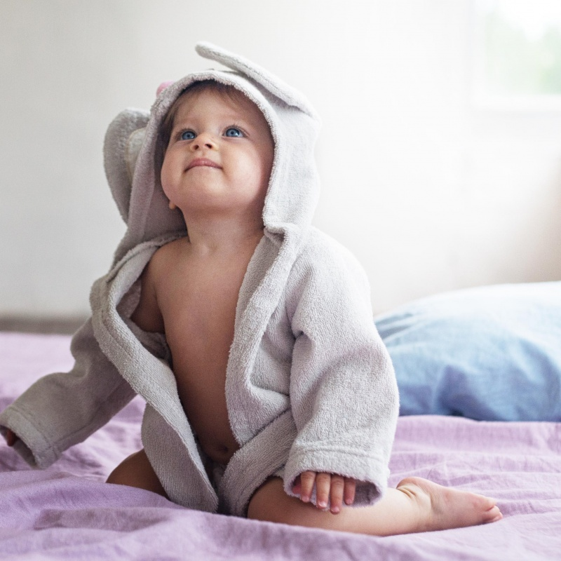 Baby Product Photography of Hooded Towels