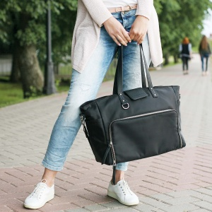 lifestyle product photography of a bag